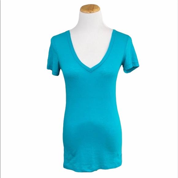 PINK Comfy Teal Short Sleeve V-Neck Sleep Shirt